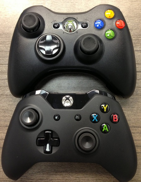 Side by Side comparison: Xbox One vs Xbox 360 Controller ... Xbox One Vs Xbox 360 Controller