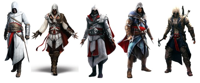 Assassin's Creed Timeline Characters Outfits