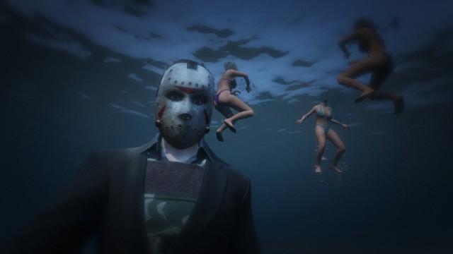 GTA V Selfie Jason Halloween - onPause