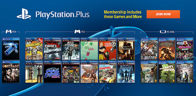 PlayStation Plus Library PS3 PS4 PS Vita
