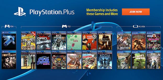 PlayStation Plus Library PS3 PS4 PS Vita